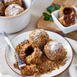 Flaumiges österreichisches Dessert, Knödel mit Nougatfüllung, Vickys Healthy Dreams