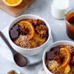 Cremiger Milchreis mit Schokolade, gesundes Dessert, Vickys Healthy Dreams