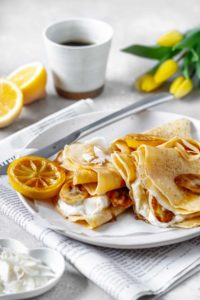 Fluffiges Zitronen-Topfen Palatschinken Rezept, Vickys Healthy Dreams