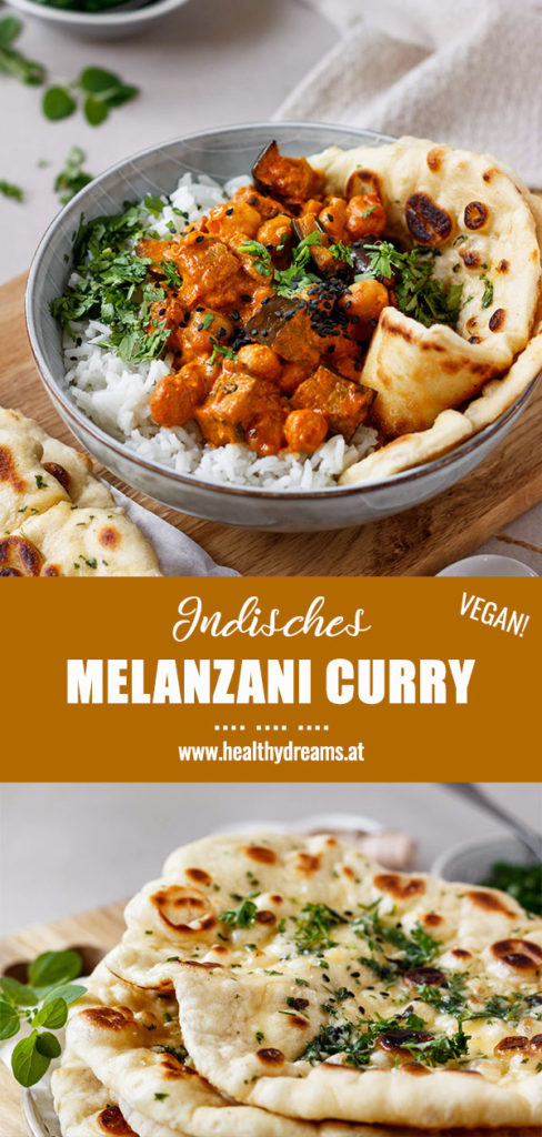 Pinterest, Indisches Melanzani Curry selber machen, veganes Curry, einfaches, gesundes Rezept, Vickys Healthy Dreams
