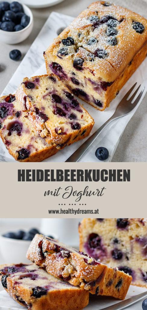 Pinterest, schneller Heidelbeerkuchen mit Joghurt, Blaubeerkuchen, Beerenkuchen, einfacher Kuchen, Kuchenrezept, Vickys Healthy Dreams