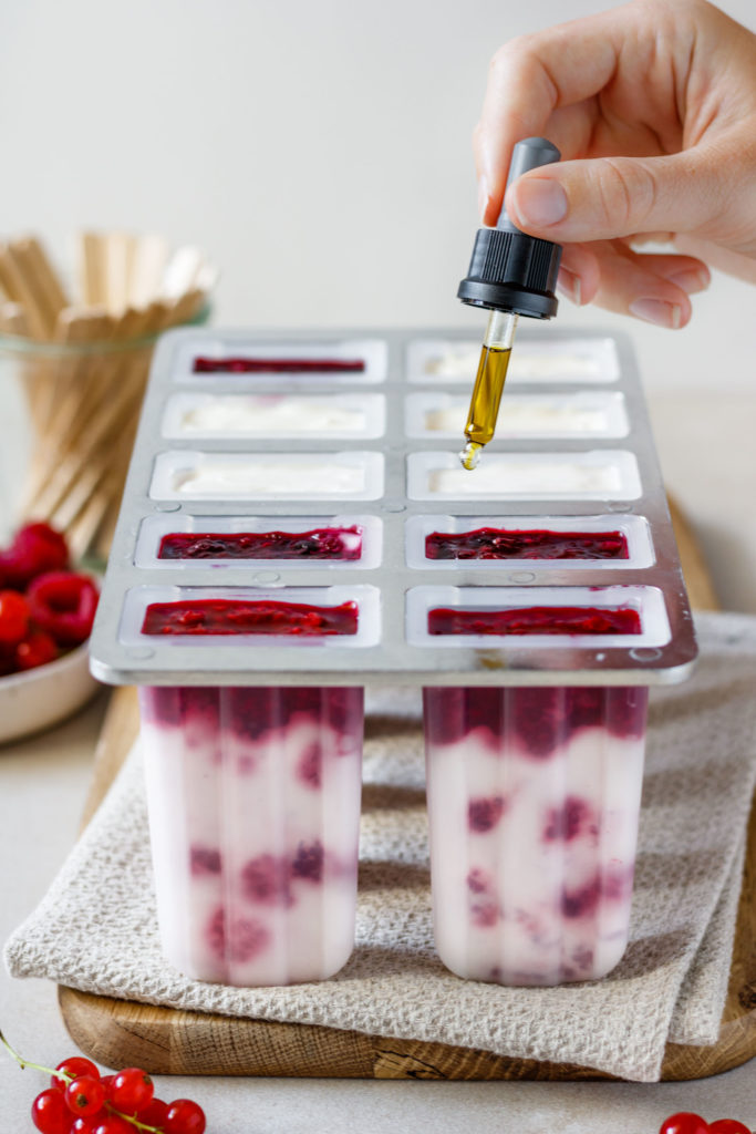Eis am Stiel Rezept mit CBD-Öl, gesundes Eis, Vickys Healthy Dreams